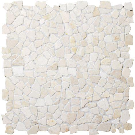 30x30 Marmormosaiik White Interlock
