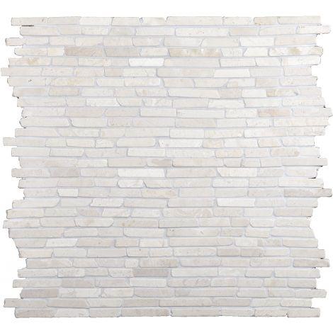 30x30 Marmormosaiik Stick White