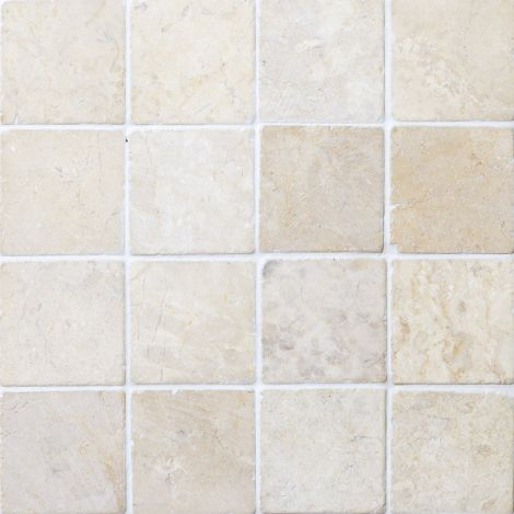 10x10 Marmormosaiik Square White