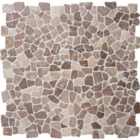 30x30 Marmormosaiik Coco Brown Interlock