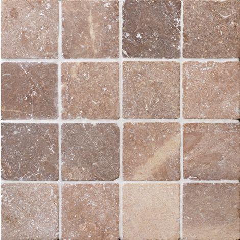 10x10 Marmormosaiik Square Square Coco Brown