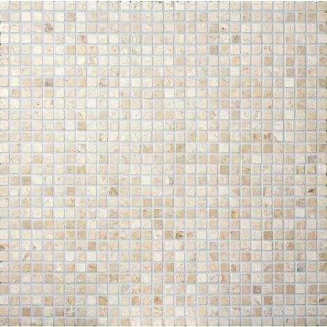 2x2 Marmormosaiik Square White