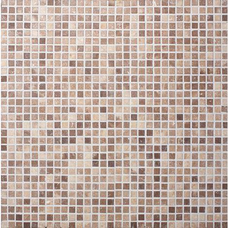 2x2 Marmormosaiik Square Coco Brown