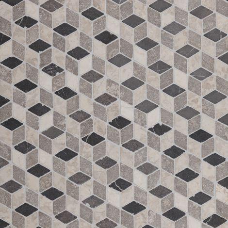 30x30 Marmormosaiik Dimention Grey-Light Grey-White