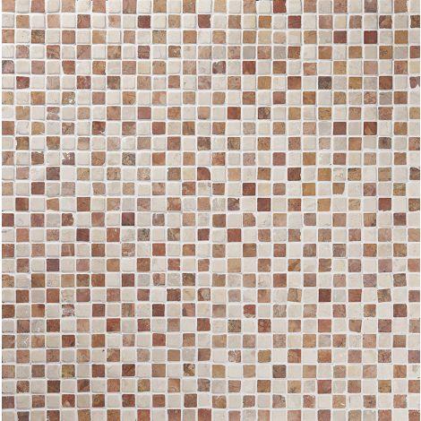 2x2 Marmormosaiik Square Terra-White