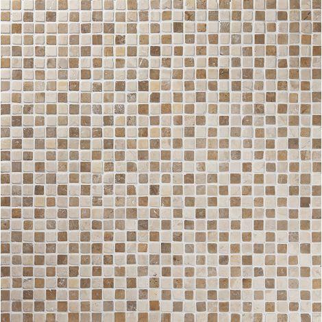 2x2 Marmormosaiik Square Mustard-White