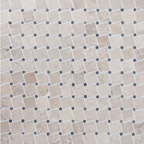 5x5 Marmormosaiik Diagonal White-Grey