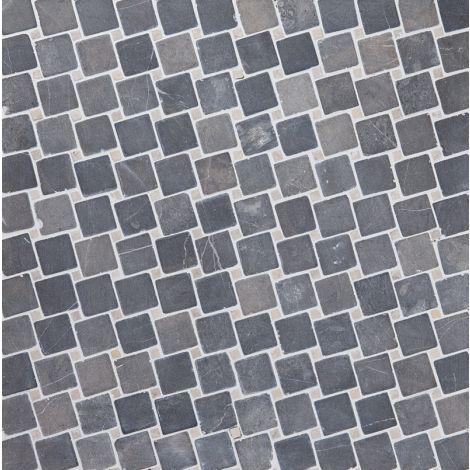 5x5 Marmormosaiik Diagonal Grey-White