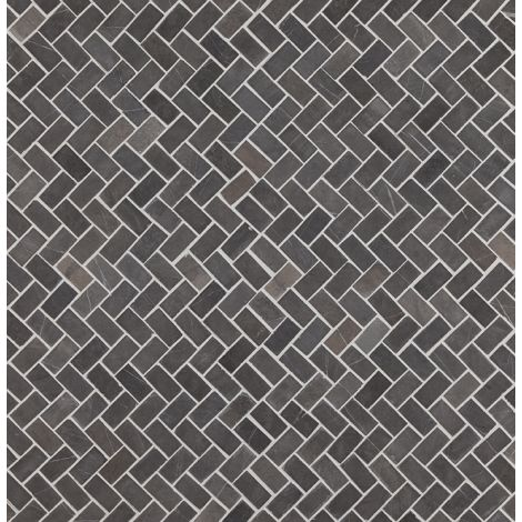 2x4 Marmormosaiik Herringbone Grey Mini