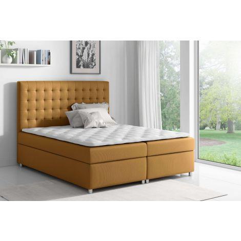 Kontinentaalvoodi Asti 120x200 cm kollane kangas