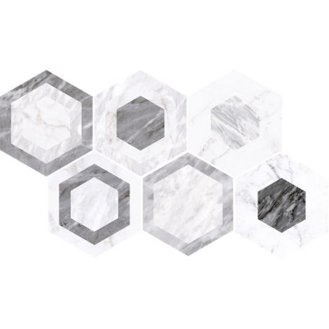 17,5x20 Bardiglio Hexagon Geo