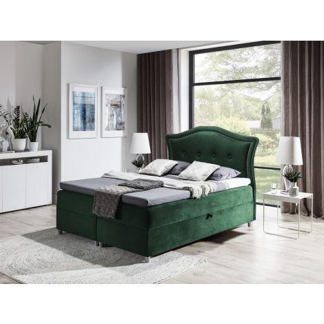 Kontinentaalvoodi Bedran 120x200 cm roheline kangas