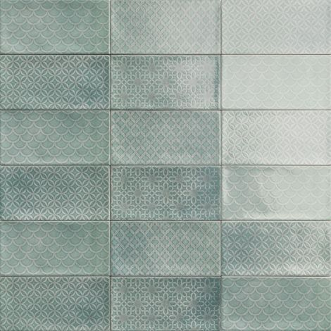 10x20 Keraamiline plaat CAMDEN DECOR EMERALD