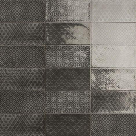 10x20 Keraamiline plaat CAMDEN DECOR NERO