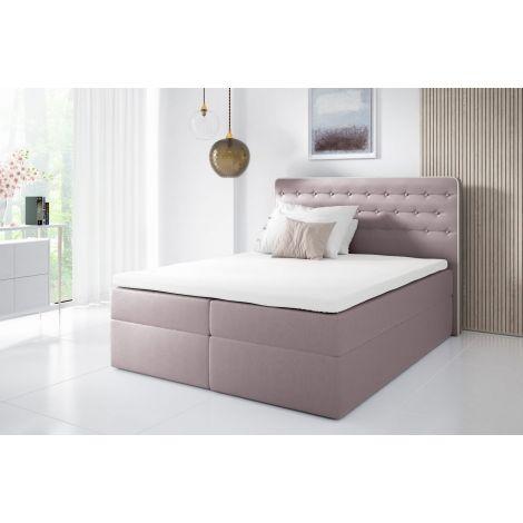 Kontinentaalvoodi Malmo 120x200 cm roosa kangas