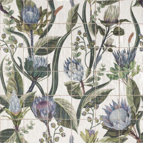 20x20 Keraamiline plaat Mural Protea