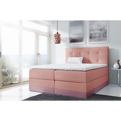Kontinentaalvoodi Royal 120x200 cm roosa/lilla kangas