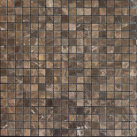 1,5x1,5 Poleeritud Marmormosaiik Portriro Brown Pol.