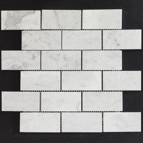 4,8x9,8 Marmormosaiik Bianco Carrara Brick Pol.